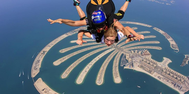 Me skydiving in Dubai
