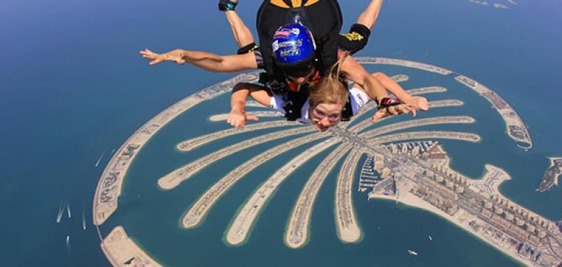 Me skydiving in Dubai