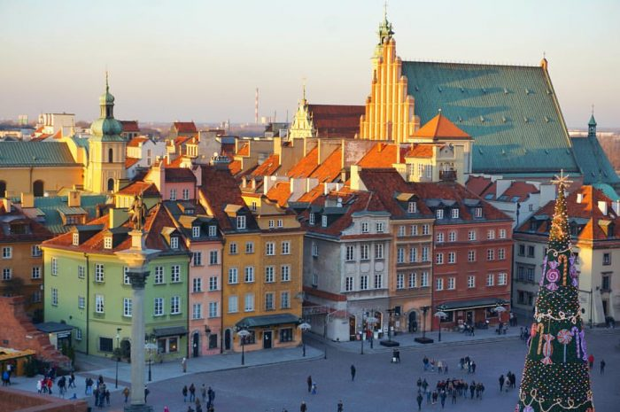 Old-town-in-Warsaw-Poland