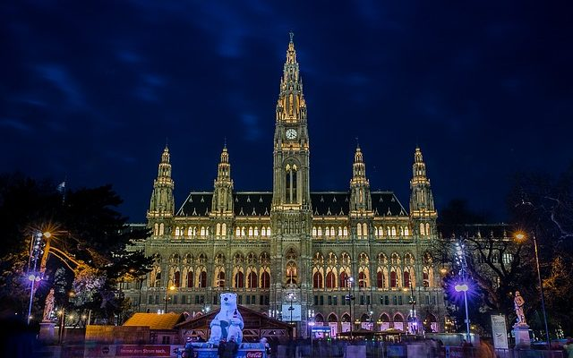 The Vienna city hall in Austria
