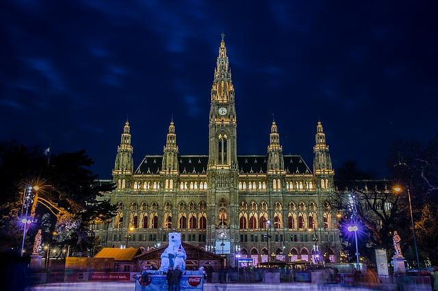 The Vienna city hall in Austria