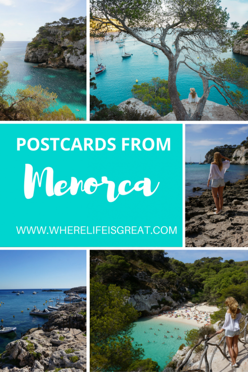 postcards from menorca