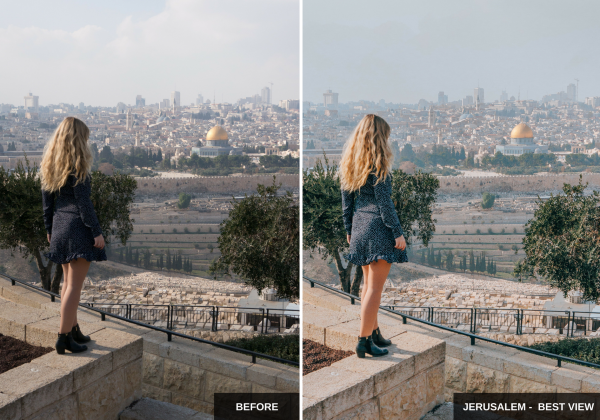 Jerusalem - best view - Wherelifeisgreat Lightroom presets, Oriental vibes pack