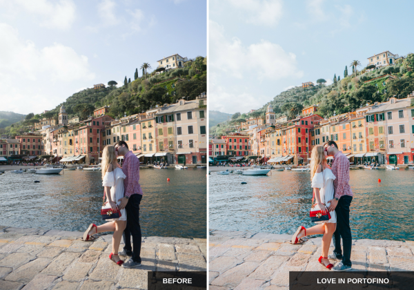 Love in portofino: Mediterranean sun Lightroom presets pack ideal for Instagram