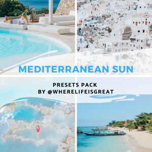 Mediterranean sun Lightroom presets pack