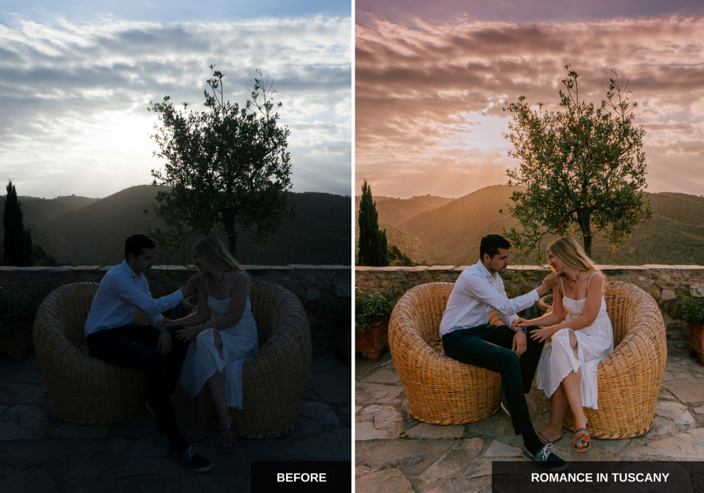 Romance in Tuscany: Mediterranean sun Lightroom presets pack ideal for Instagram