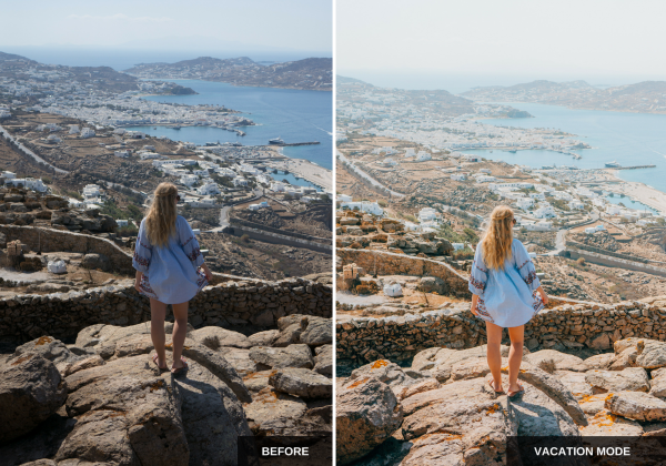 Vacation mode:Mediterranean sun Lightroom presets pack ideal for Instagram