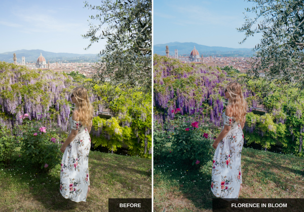 Florence in bloom:Mediterranean sun Lightroom presets pack ideal for Instagram