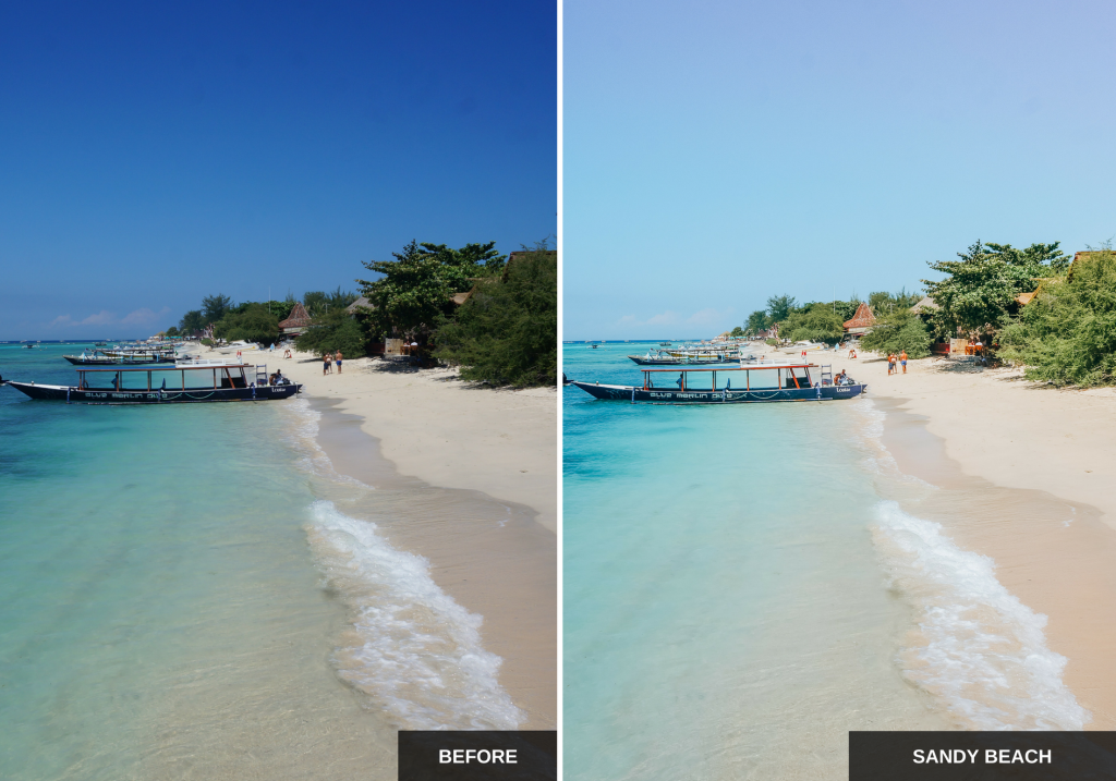 Mediterranean sun Lightroom presets pack ideal for Instagram