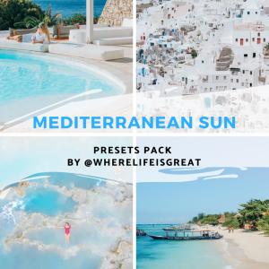 Mediterranean sun Lightroom presets pack