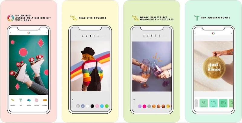 A Design Kit App is one of the best Instagram stories apps