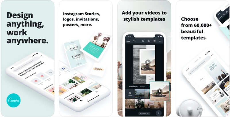Canva App is one of the best Instagram stories apps