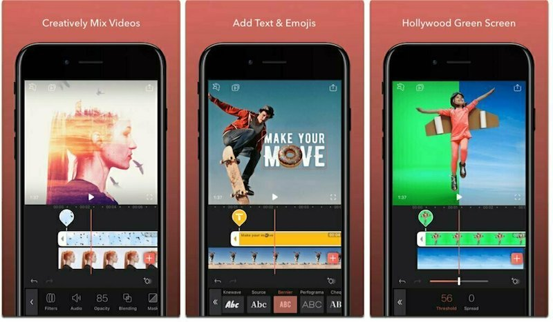Enlight Videoleap App is one of the best Instagram stories apps