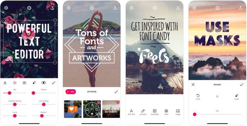 Font Candy App is one of the best Instagram stories apps