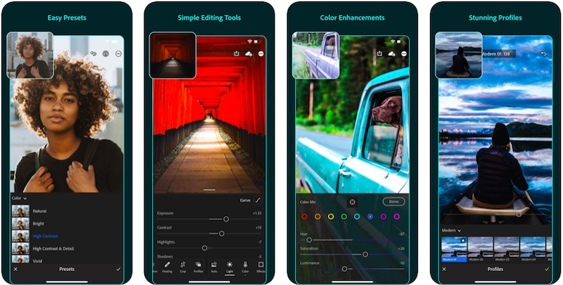 Lightroom App is one of the best Instagram stories apps