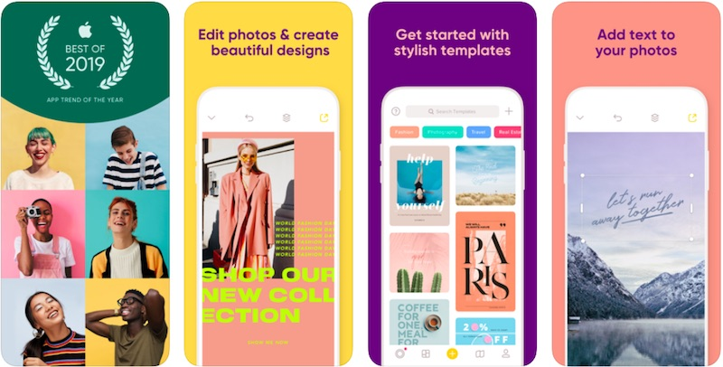 Over App is one of the best Instagram stories apps