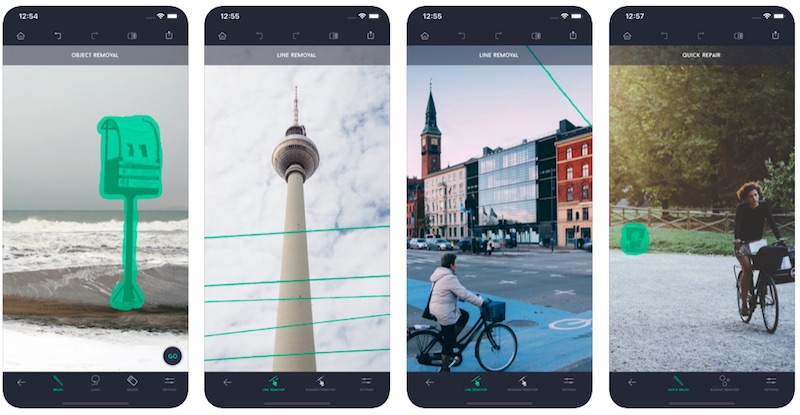 Touch Retouch App is one of the best Instagram stories apps