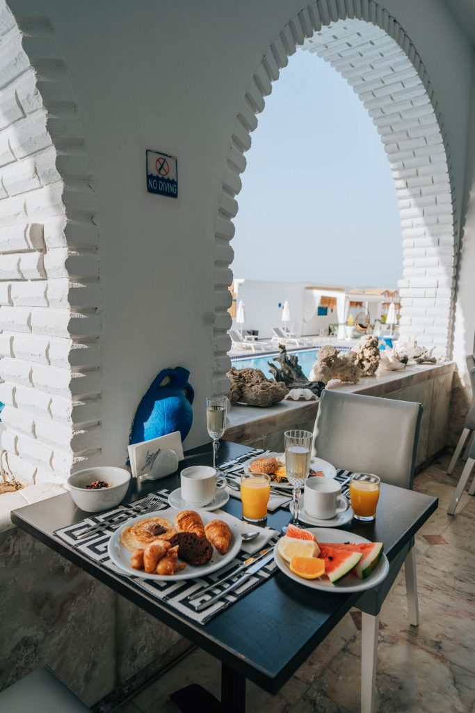 breakfast buffet at meandros
